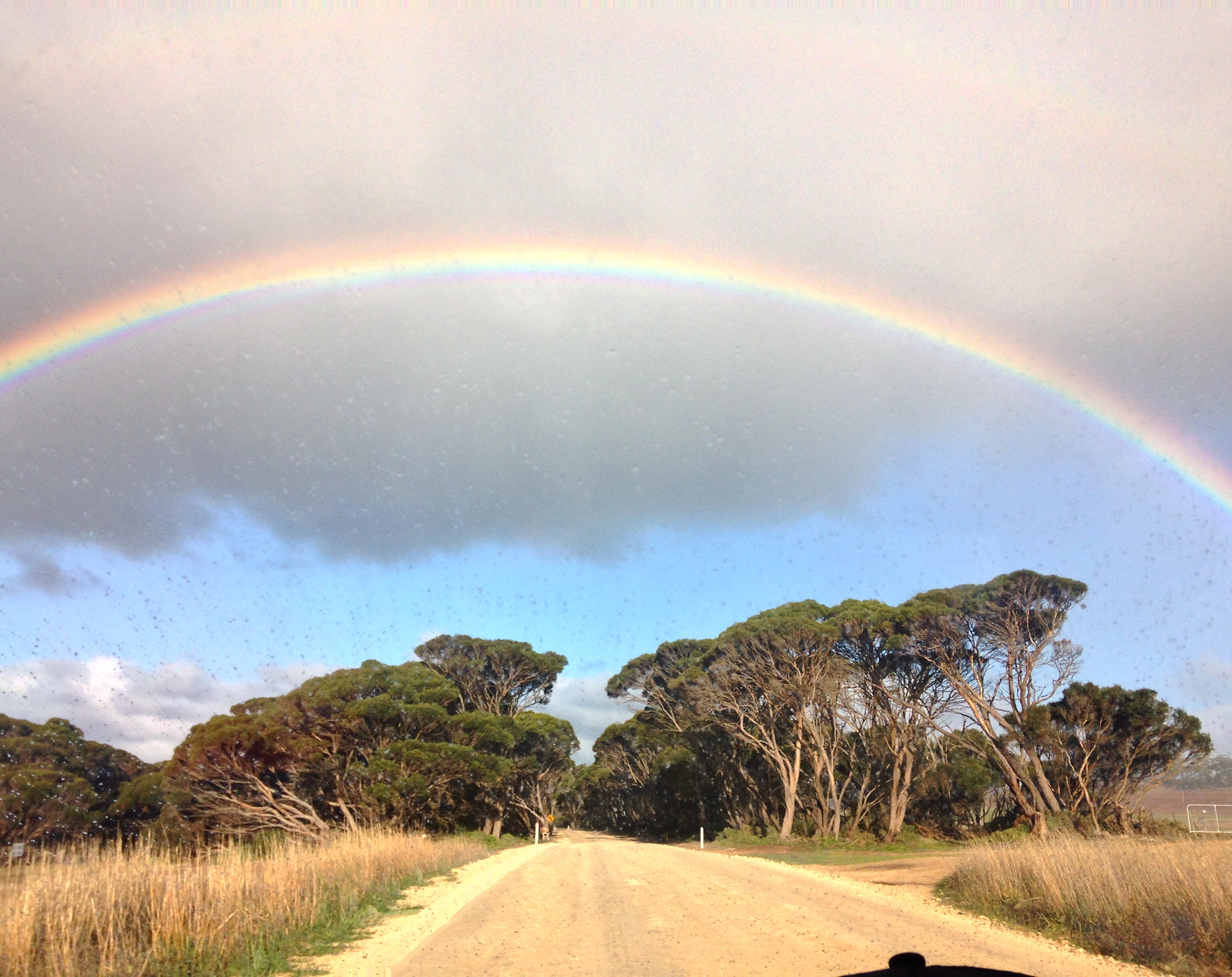 Rainbow on Kangaroo Island, Travelling Australia